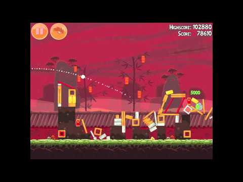 Angry Birds Seasons Year of the Dragon 1-4 Walkthrough 2012 3 Star