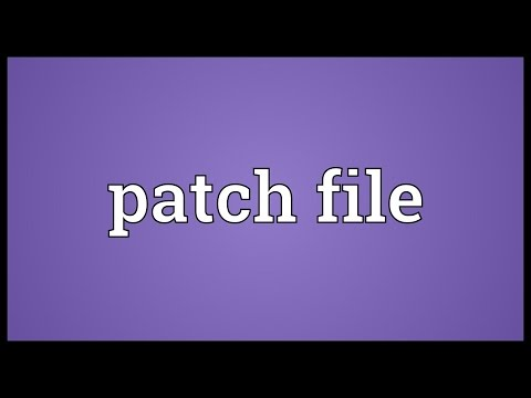 Patch file Meaning
