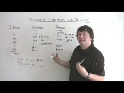 Basic English Grammar - How To Show Possession In English - MY / MINE, HER / SHE / HERS, And More!