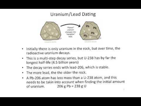 Uranium-lead dating