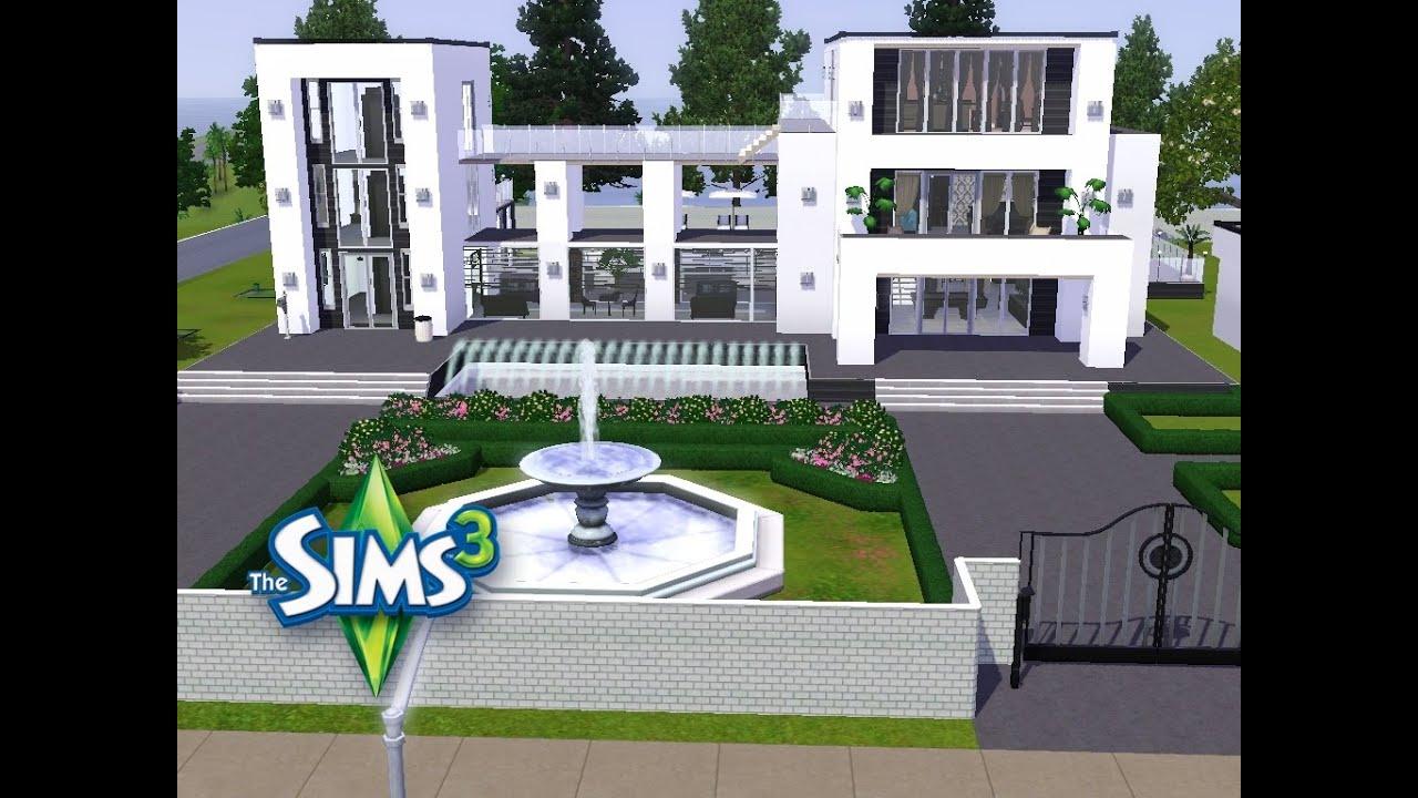 Sims 3 haus bauen lets build großes modernes haus in weiß