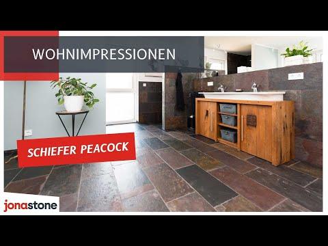 schiefer peacock fliesen ein farbfeuerwerk youtube. Black Bedroom Furniture Sets. Home Design Ideas