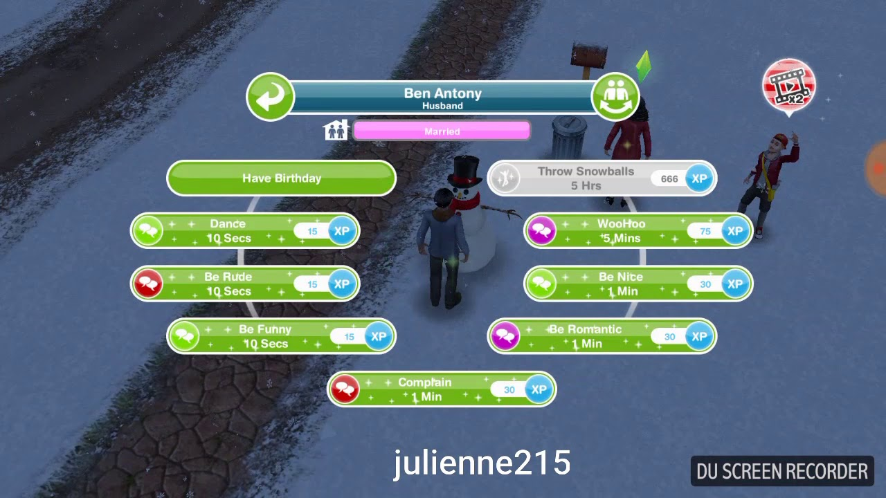 The Sims Freeplay Xmas Quest Snow Problem Part 1