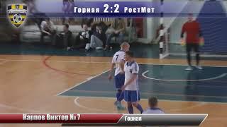 "Футбол ""Горная"" 6:3 ""РостМет"" - Голы"