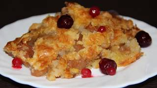 Яблочный крамбл. Пирог для ленивых! Кулинария. Рецепты. Понятно о вкусном.