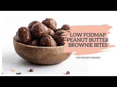 Low FODMAP Peanut Butter Brownie Bites
