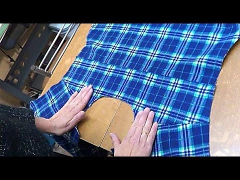 Как сшить кокетку на спинке рубашки