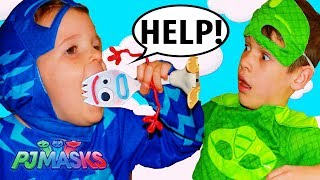 PJ Masks CATBOY EATS FORKY from Toy Story 4 movie! Gekko Saves Forky