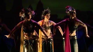 """Dewi Sri"" A Moria Chappell Javanese Tribal Bellydance Fusion piece in Wild Saffron"