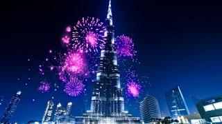 Dubai Burj Khalifa show marks start of New Year 2016 with sparkle