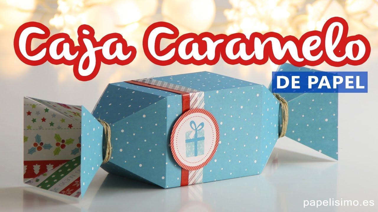 Cajas de regalo originales caja caramelo de papel con - Fotos originales para hacer en casa ...
