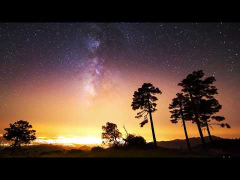 Звездное небо.4К залипалово релакс видео