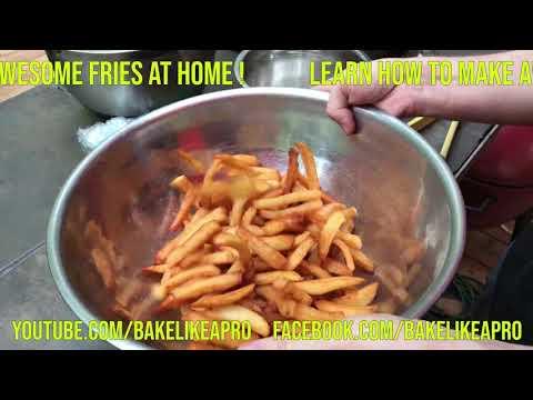 Make Great Fries At Home Recipe 4K #SHORT