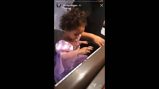 Chrissy Teigen & John Legend Teaching Luna & Miles How to play the Piano Singing 'Stinky Booty Song