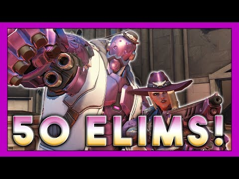 50 Elims Ashe Rampage! - Seagull - Overwatch thumbnail