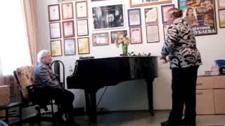 Урок вокала проф. Гертруды Трояновой. Контральто. Занятие 1е.