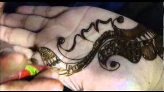 Learn Beautiful Indo Arabic Henna Mehendi:Girlish Mehndi Design For Palm Thumbnail