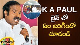 Funny Incident In KA Paul Press Meet | AP Political News | KA Paul Latest Press Meet | Mango News