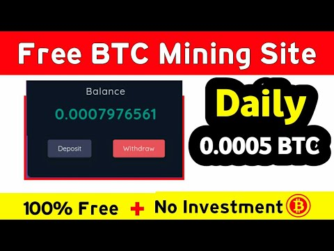 New Free Bitcoin Mining Site 2021 | Get 0.005 BTC Daily Live Proof 😱| BTCgoldmine.io payment proof