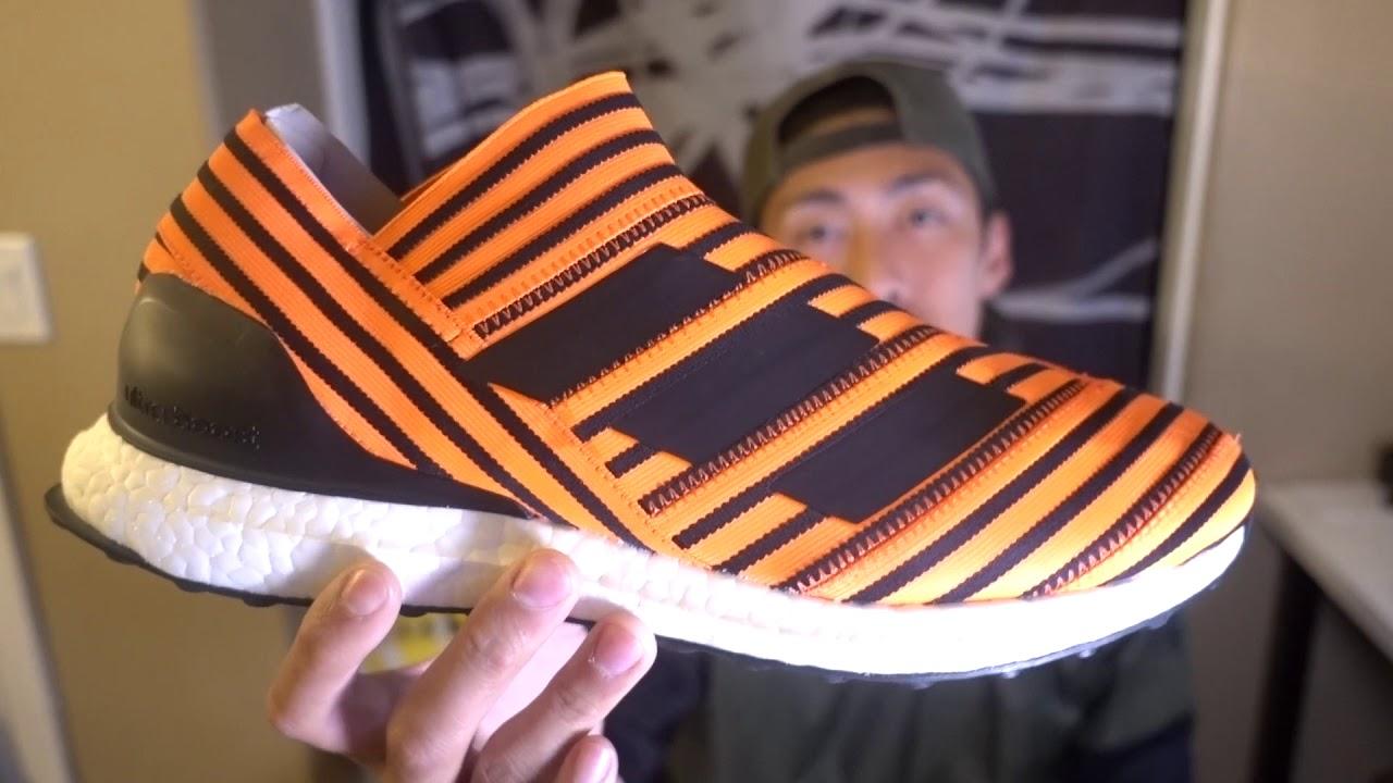 27c17107e69 Adidas Nemeziz Tango 17+ Ultra Boost Solar Orange Quick Review + SIZING!