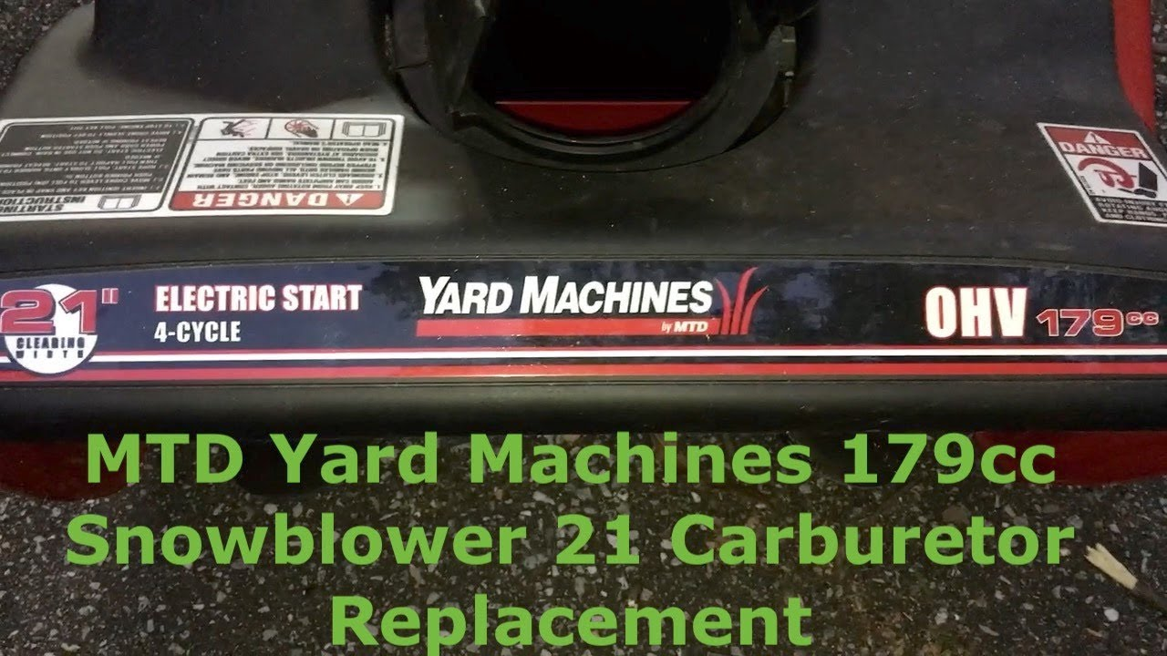 mtd yard machines 179cc snowblower 21 carburetor replacement [ 1280 x 720 Pixel ]