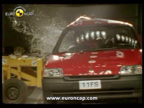 euro ncap renault clio 1997 crash test youtube. Black Bedroom Furniture Sets. Home Design Ideas