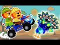 Lion Family 🚵♀️ Ride on Sports Car in search of a Feather Cartoon for Kids