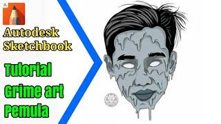 Download Video Tutorial GRIME ART pemula || autodesk sketchbook MP3 3GP MP4
