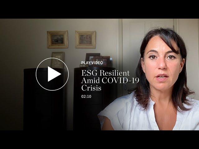 ESG Resilient Amid COVID-19 Crisis