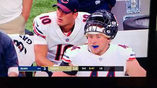 chicago bears zach miller broken leg incomplete pass catch