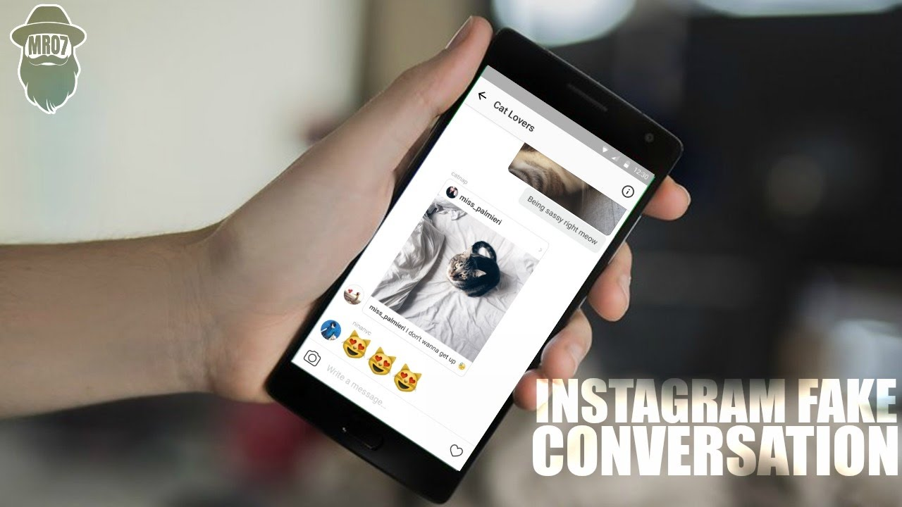 How to create a fake instagram conversation dm youtube ccuart Gallery