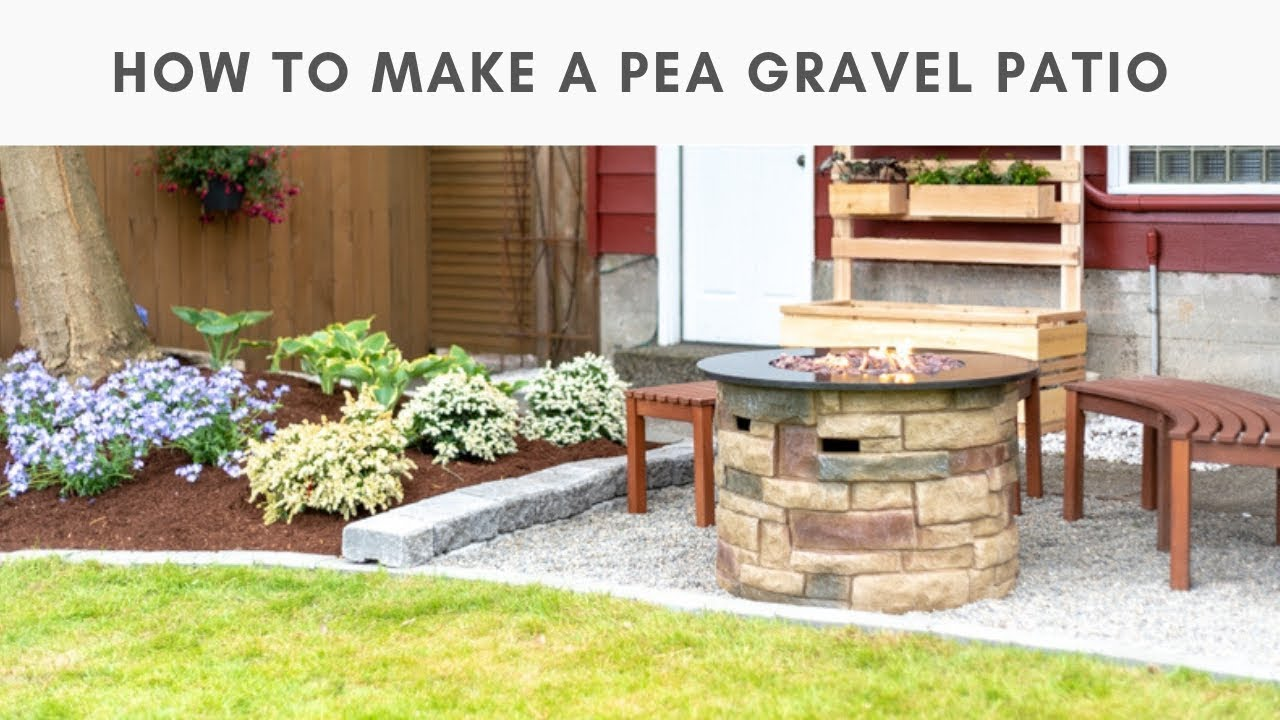 how to make a pea gravel patio in a weekend