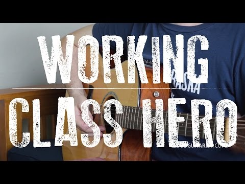 """How To Play """"Working Class Hero"""" by John Lennon 