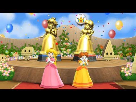Mario Party 9 - Step It Up - Peach vs Daisy Master CPU  Cartoons Mee