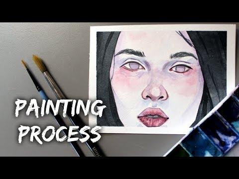 Miniature Portrait painting process