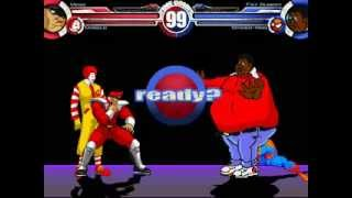 Vega & Donald vs Fat Albert & Spiderman MUGEN Battle!!!