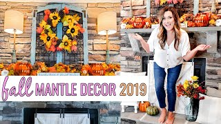 FALL MANTLE DECOR  IN 2 DIFFERENT STYLES | TRADITIONAL FALL AND FARMHOUSE | Cook Clean And Repeat