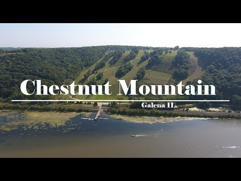 Chestnut Mountain Ski Resort Galena Illinois In Summer Filmed By Drone
