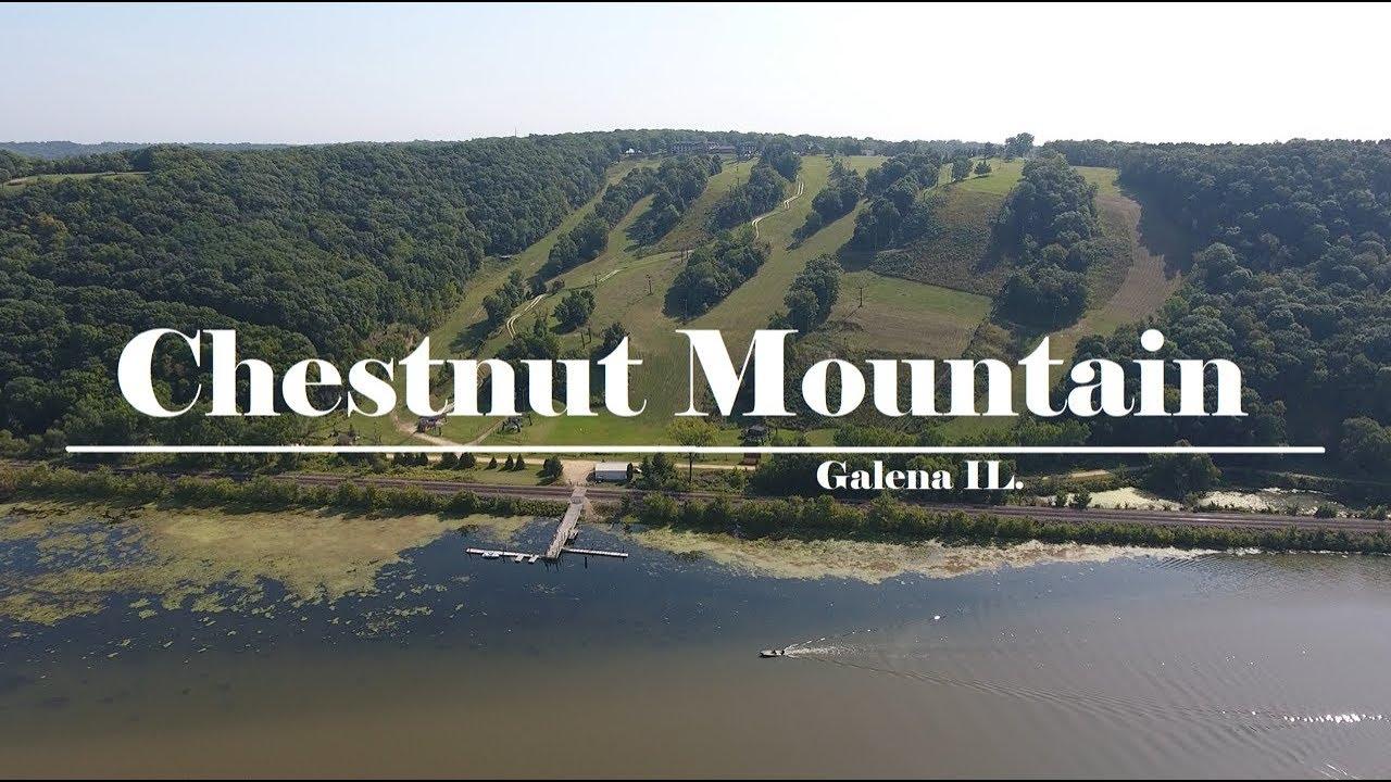 chestnut mountain ski resort galena illinois in summer filmed by