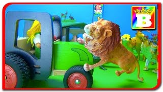 Tractorul aduce animale la ZOO Sa invatam animale domestice salbatice si sunetele lor. Bogdan`s Show