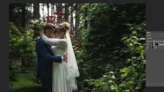 Ретушь свадебной фотографии.