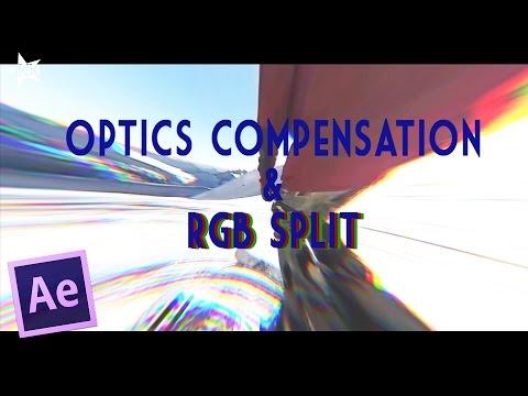 After Effect Tutorial | OPTICS COMPENSATION & RGB SPLIT