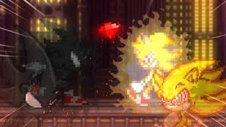 Dark Sonic V.S Fleetway Sonic (Remake)