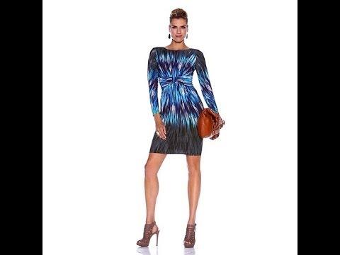 DAVID David Meister Kaleidoscope Jersey Dress