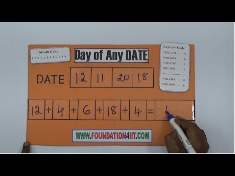How To Find Day Of Any Date || Maths Project ||