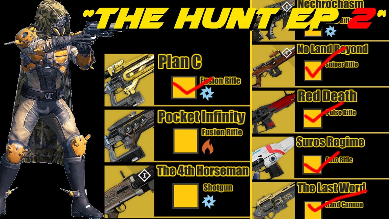 Destiny the hunt for all year 1 exotics ep 2 youtube