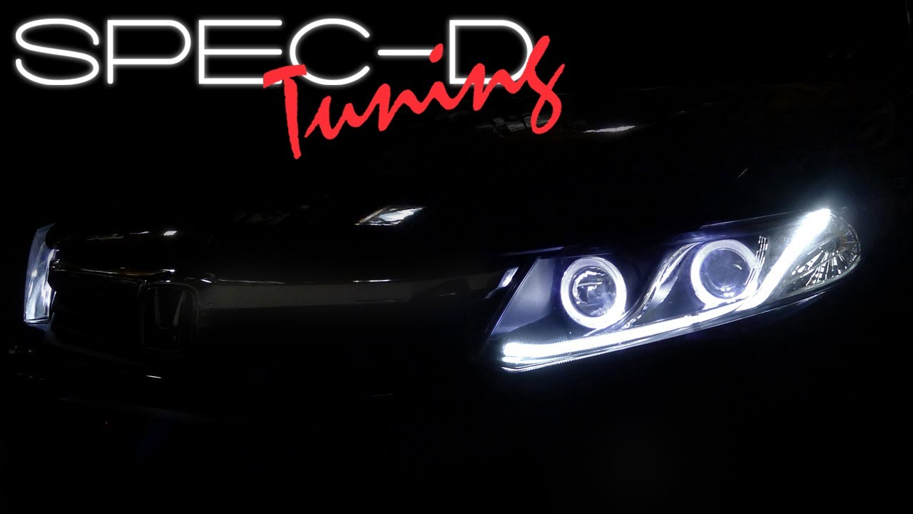 Honda Civic Headlights >> SPECDTUNING INSTALLATION VIDEO: 2012 HONDA CIVIC PROJECTOR ...
