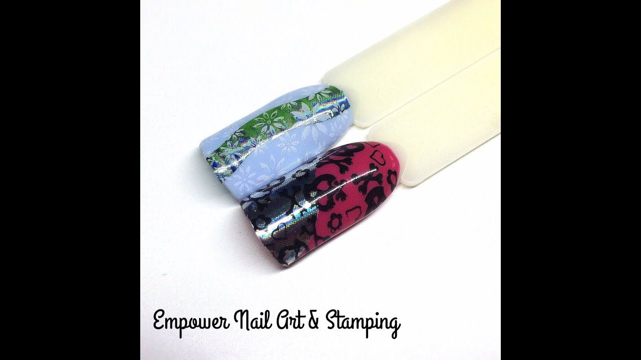 Stamping Tutorial Over Empower Nail Art Film Cnd Shellac