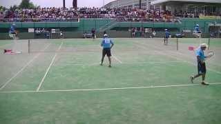 2015年度 全国中学校ソフトテニス大会 男子個人1回戦3