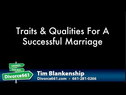 Qualities of a successful marriage